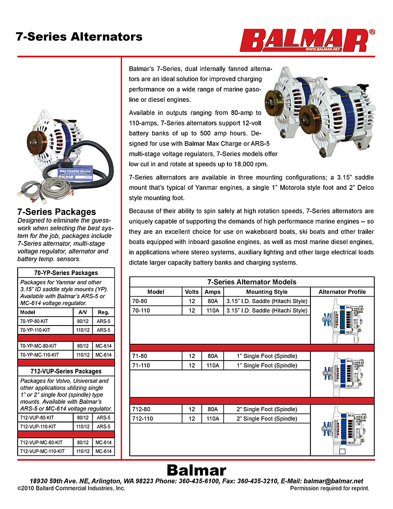 Balmar Alternator Wiring Diagram Expert Nippondenso 110a Model 70 110 Manual 7 Series Jeep Cherokee