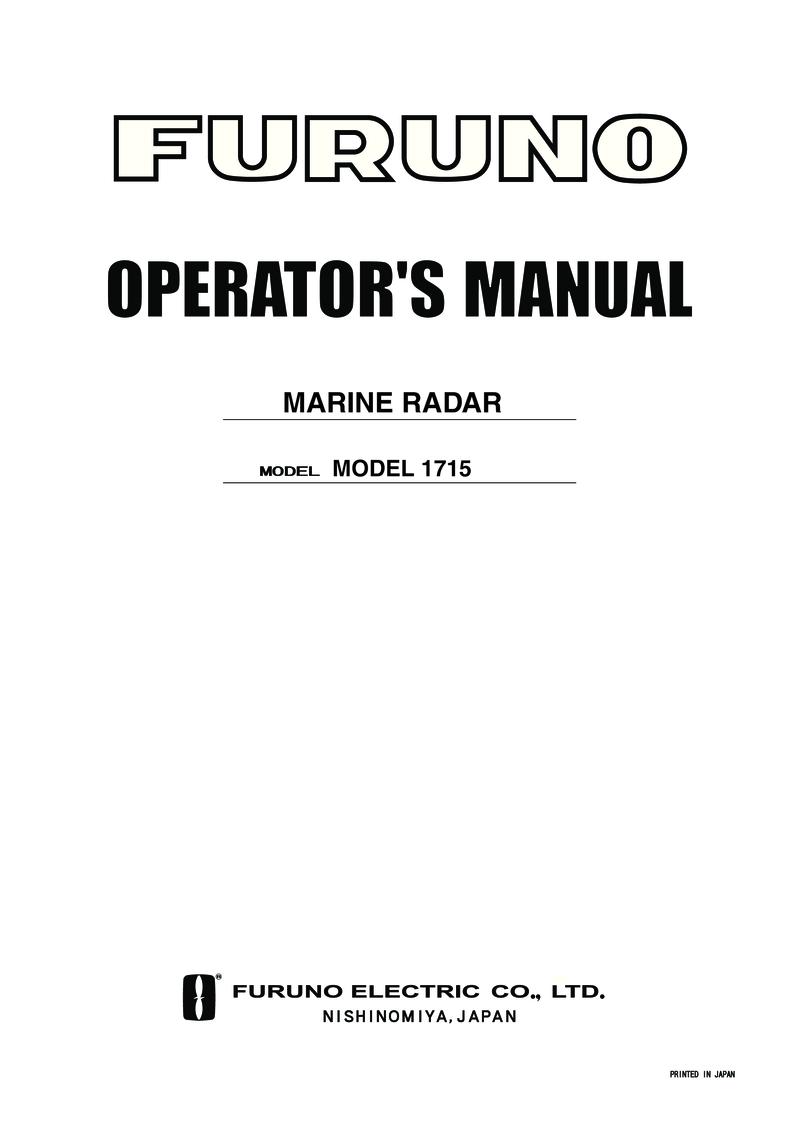 ' Furuno 1715 Radar Operators Manual'