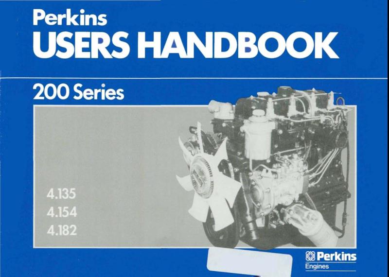 Perkins 200 Series 4 135 4 154 4 182 Users Handbook'