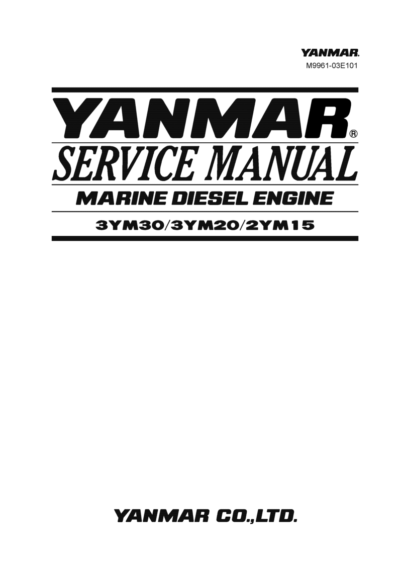'2ym15 : Yanmar Inboard Engine 14hp/10.3kw Service Manual'