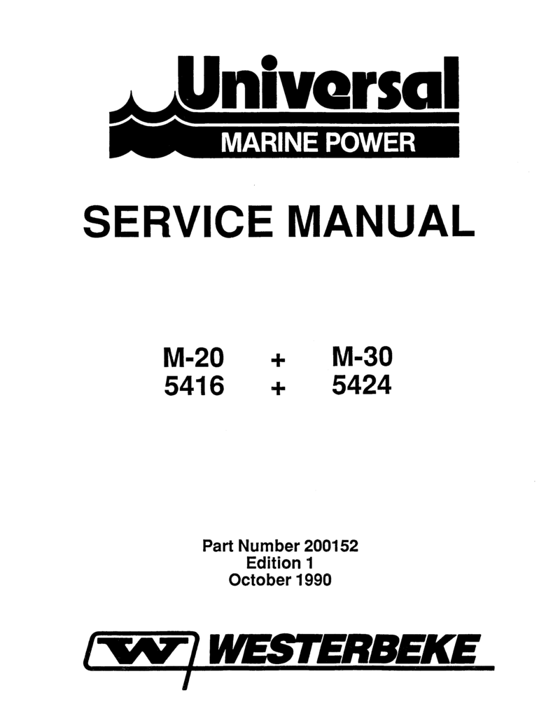 Universal Diesel 5424 Technical Manual M30 Engine Diagram