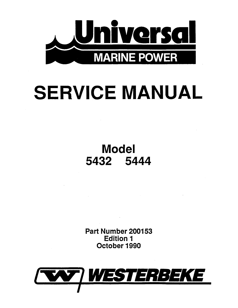 Universal Diesel 5432 Technical Manual