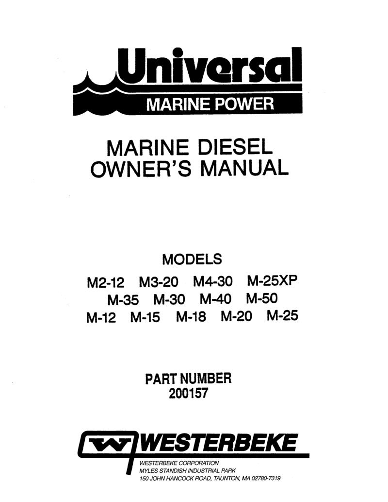 Universal sel M 35 Operator's Manual on