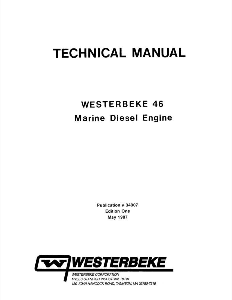 Westerbeke sel W 46 Parts Manual on