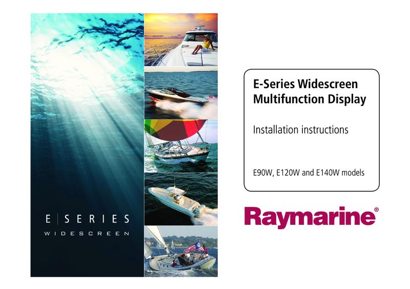 Raymarine E Series Widescr Installation Instructions 87116 3