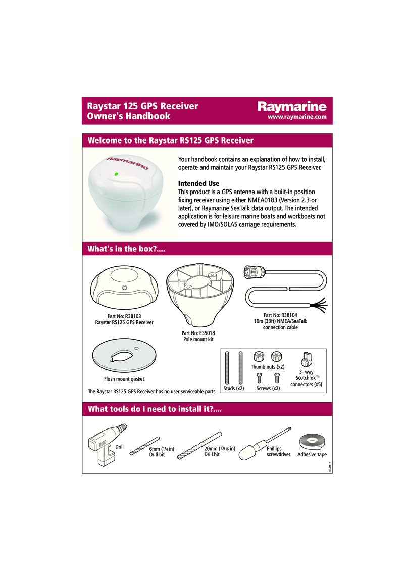 Raymarine Rs125 Gps Installation Instructions 81247 4