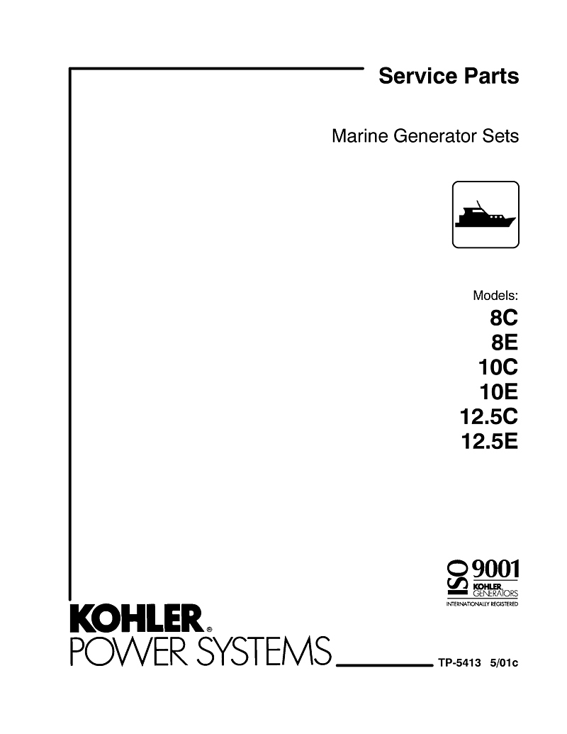 Kohler Generators 8 10 12 5 C And E