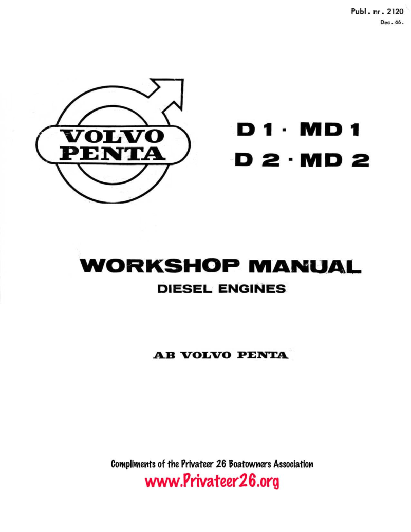 volvo penta md1 d1 md2 d2 workshop manual rh l 36 com Volvo Penta Lower Unit Volvo Penta Wiring-Diagram