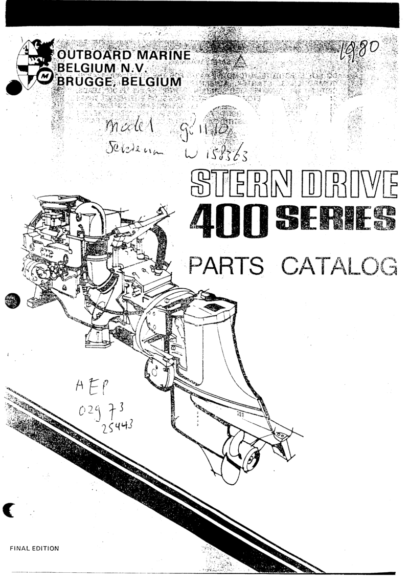 Omc 400 Series 120 And 140 Sterndrive And Engine Workshop Manual