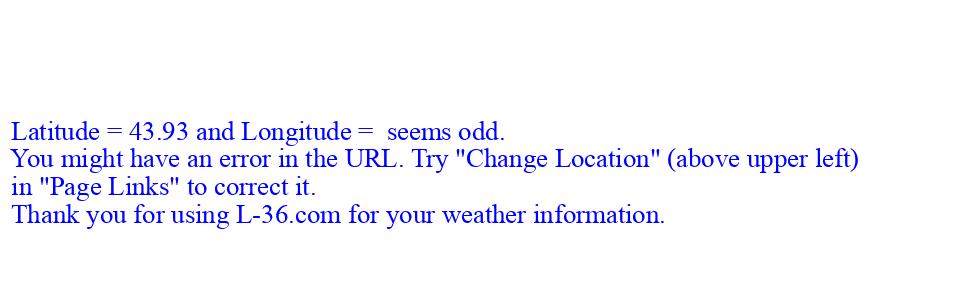 7 Day Forecast For Marine Location Near New Lisbon Wi