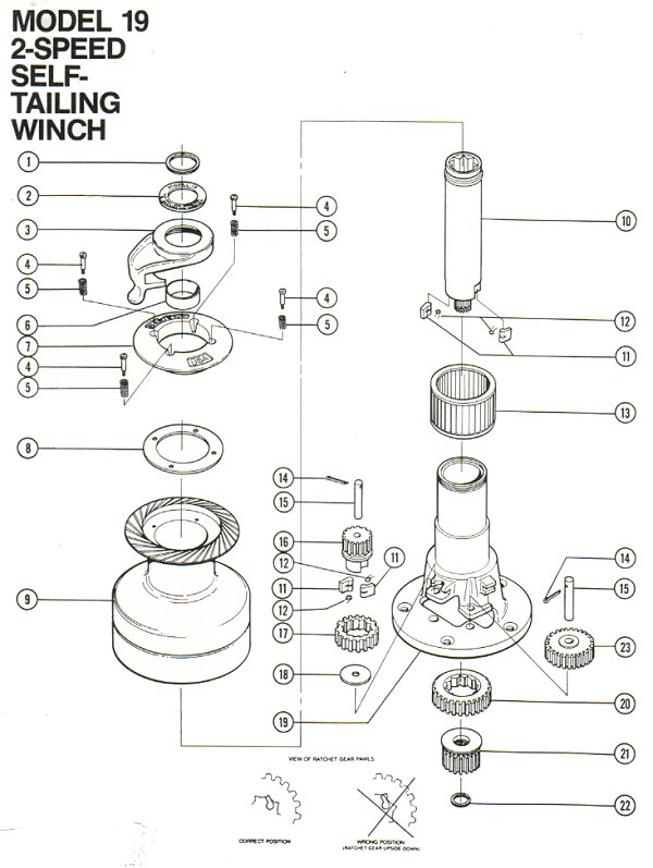 winch service manual for barient no  19  t