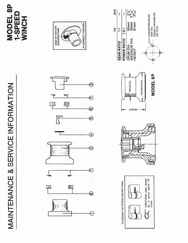 Winch Service Manual For Barient No 8p