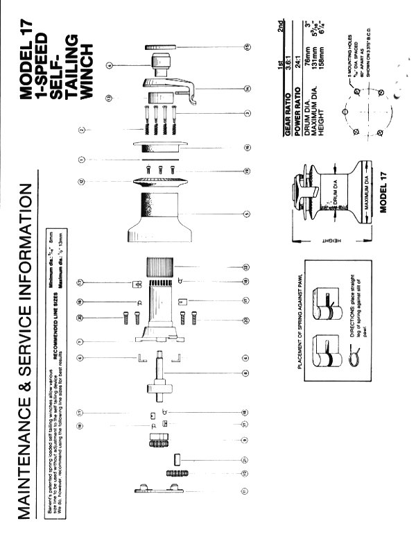 Winch Service Manual For Barient No 17 1sp St