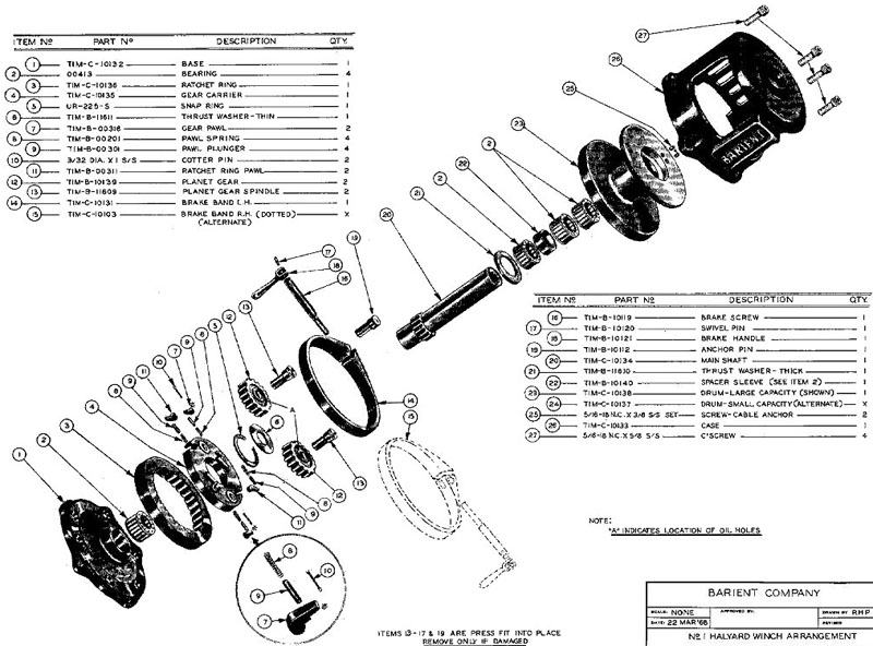 winch service manual for barient no  1